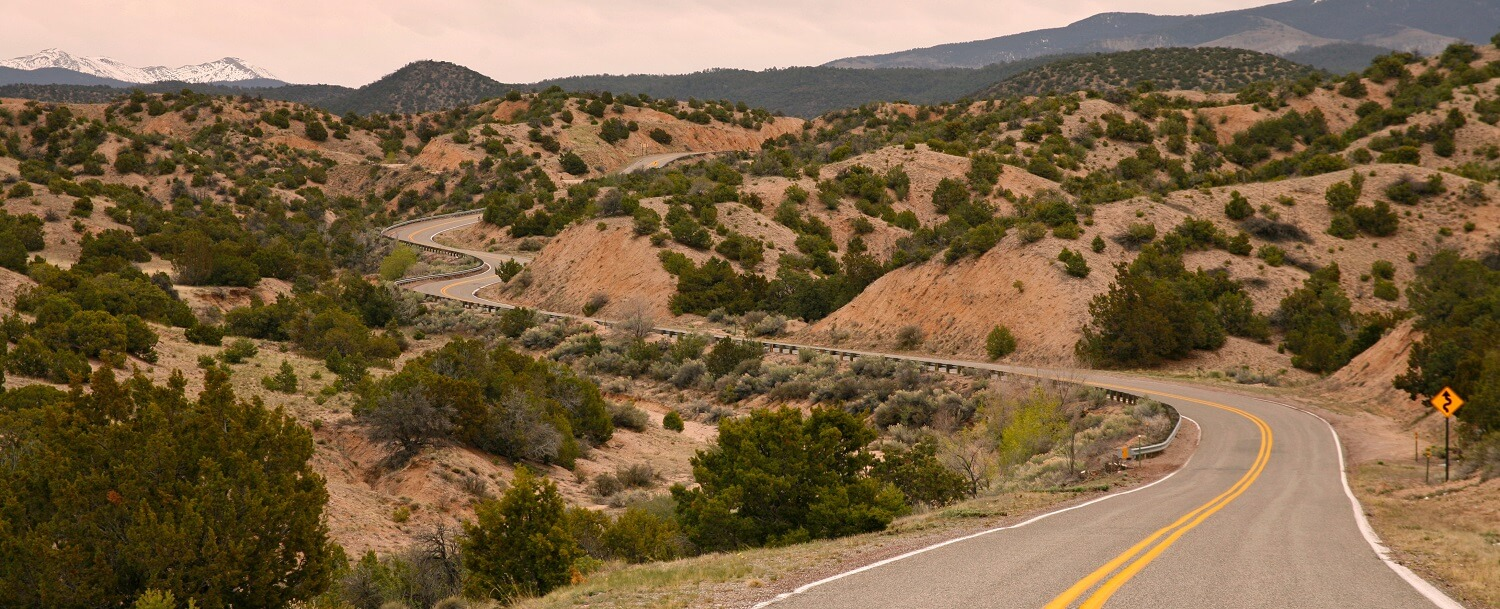 High road to Taos, near Chimayo NM